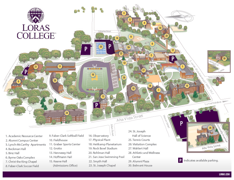 Loras Campus Map.Homecoming General Information Loras College