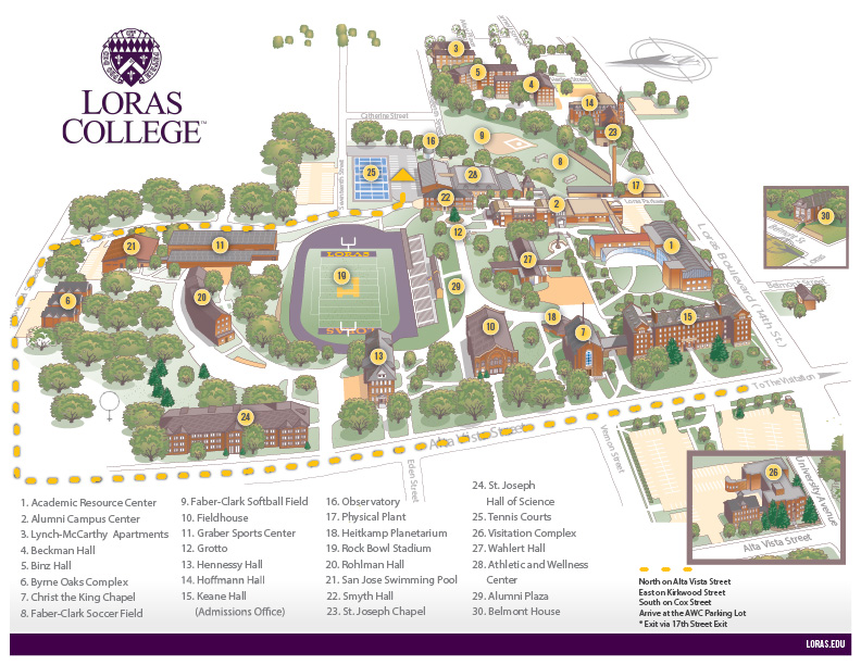 university of dubuque campus map Homecoming General Information Loras College university of dubuque campus map